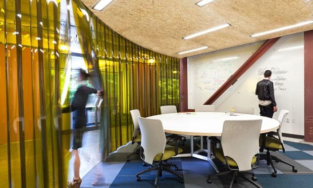Sala de reunião - Microsoft, Redmond, Washington, EUA.